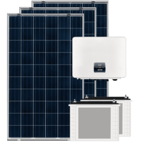 off grid solar panel compact inverter and battery
