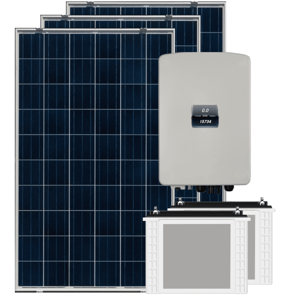 off grid solar panel with inverter and battery